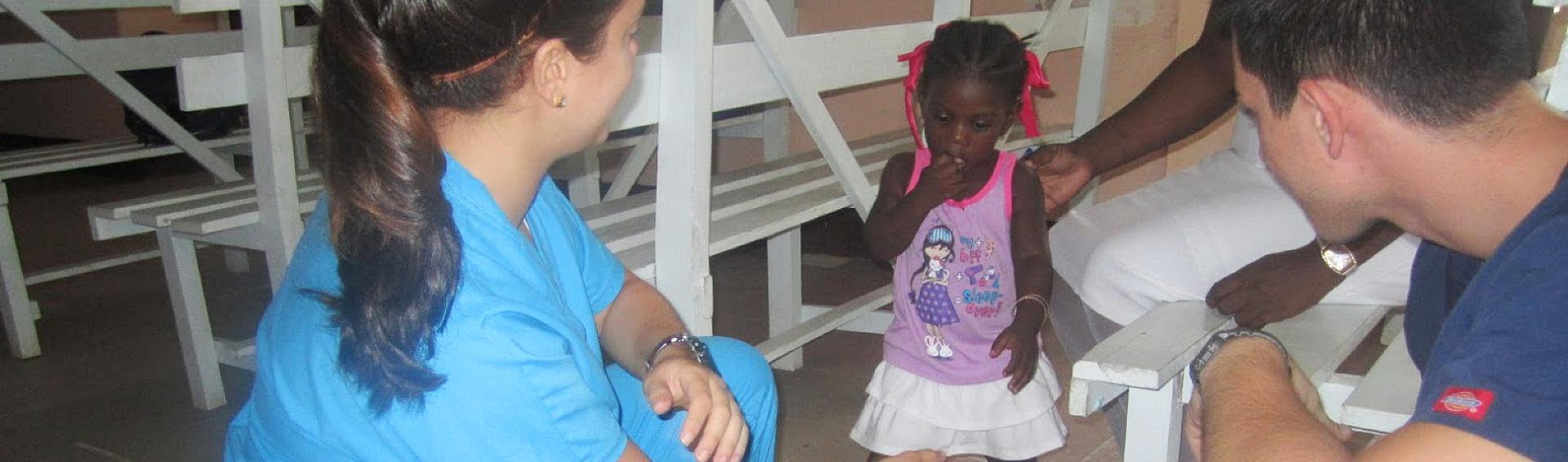 kid with nurse
