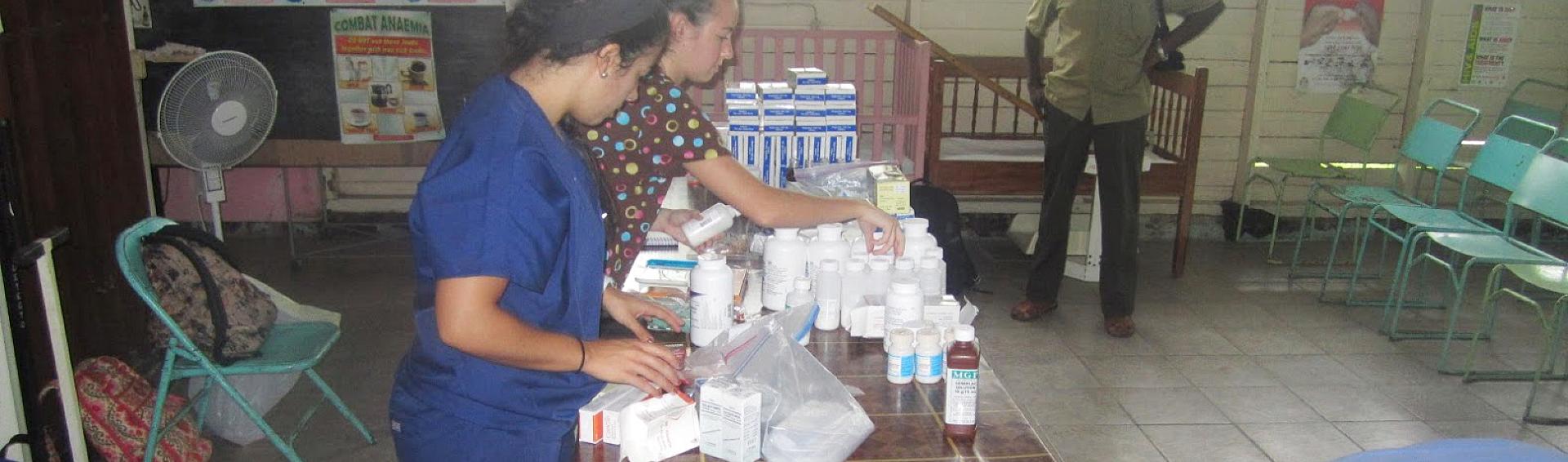 displaying medicines
