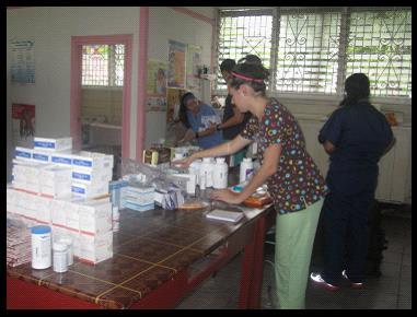 volunteer in a medical mission
